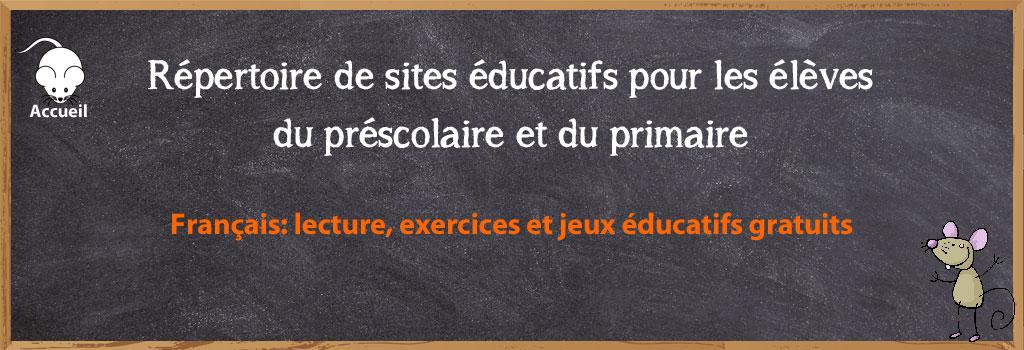 Sites Educatifs Pour Le Prescolaire Et Le Primaire Francais