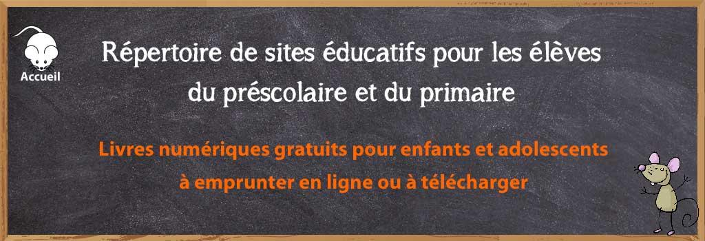 Sites Educatifs Pour Le Prescolaire Et Le Primaire Livres